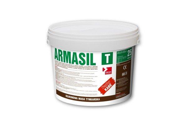 Armasil T - Силиконовая штукатурка; фактура: камешковая; размер зерна: 1,0; 1,5; 2,0; 2,5; 3,0 мм
